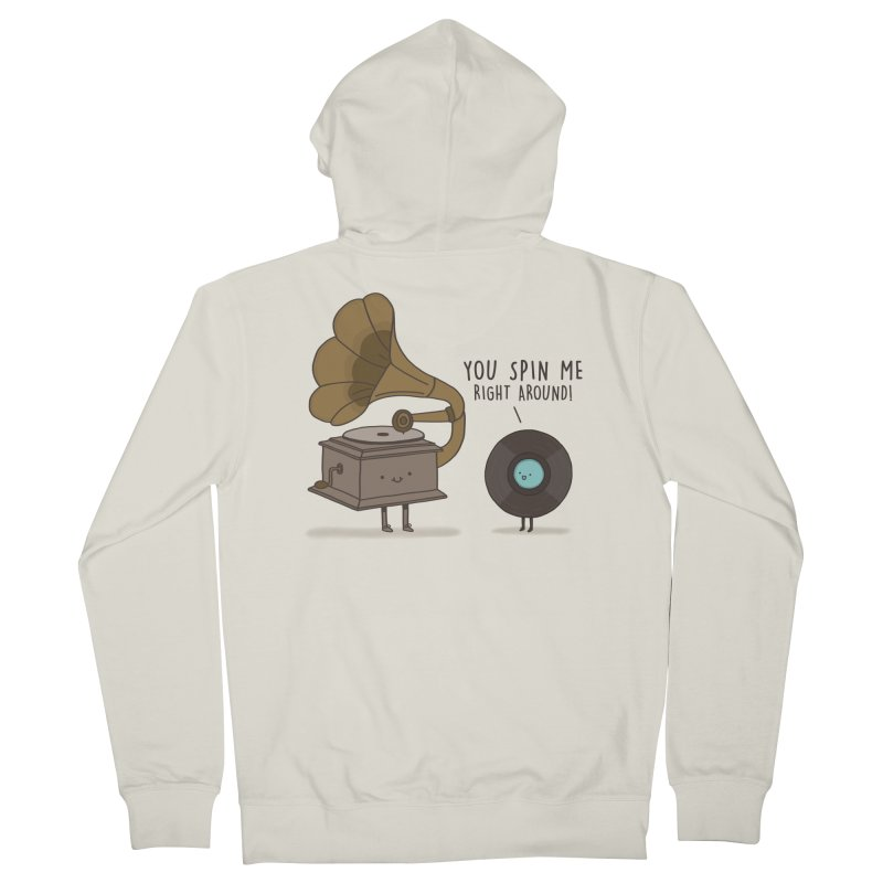 HEAD SPINNING LOVE  Men's Zip-Up Hoody by RiLi's Artist Shop