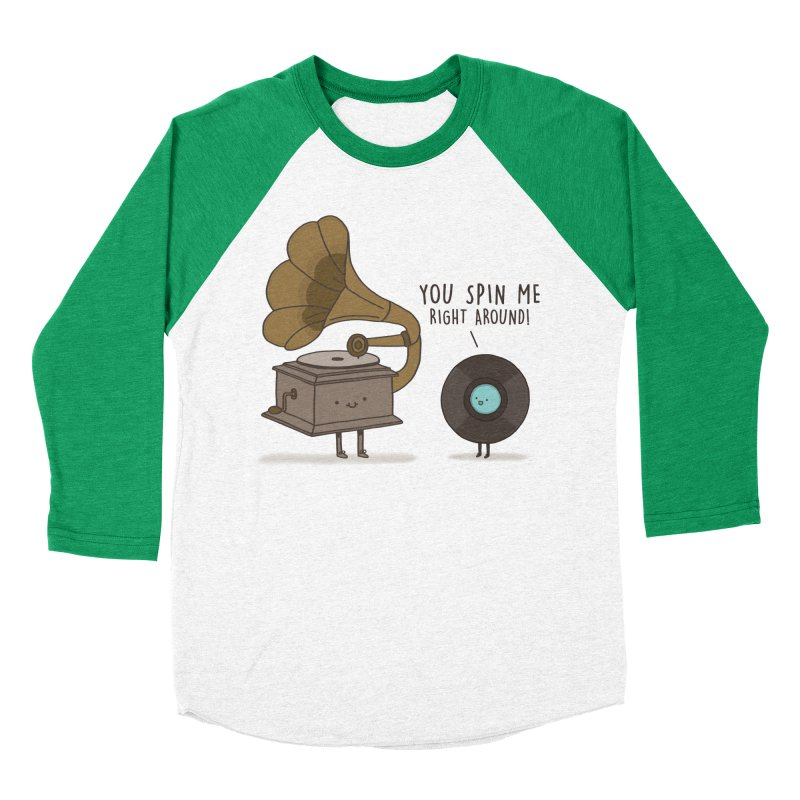 HEAD SPINNING LOVE Women's Baseball Triblend Longsleeve T-Shirt by RiLi's Artist Shop
