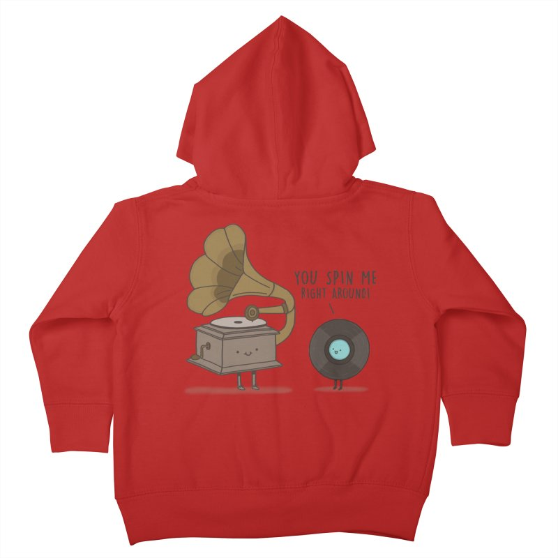 HEAD SPINNING LOVE  Kids Toddler Zip-Up Hoody by RiLi's Artist Shop