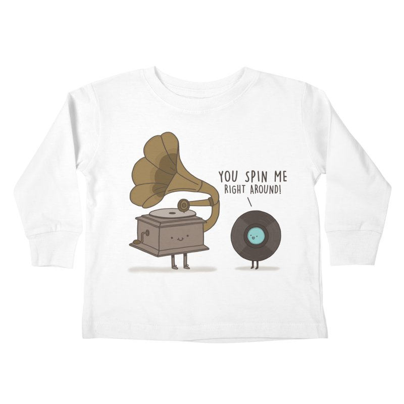 HEAD SPINNING LOVE  Kids Toddler Longsleeve T-Shirt by RiLi's Artist Shop