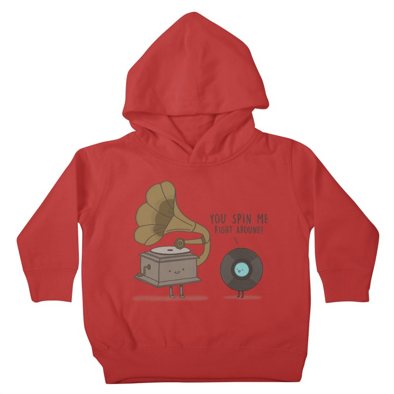 HEAD SPINNING LOVE  Kids Toddler Pullover Hoody by RiLi's Artist Shop