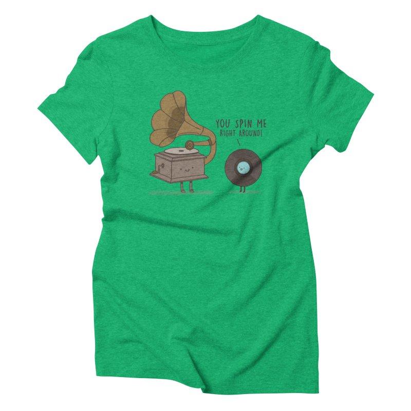 HEAD SPINNING LOVE  Women's Triblend T-shirt by RiLi's Artist Shop