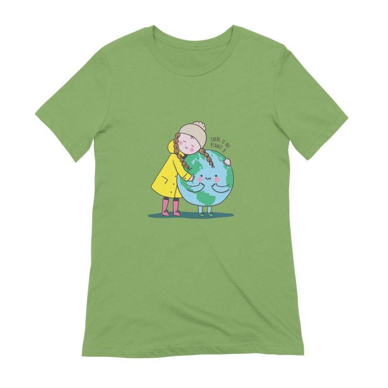 THERE IS NO PLANET B Women's Extra Soft T-Shirt by RiLi's Artist Shop