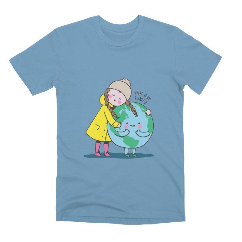 THERE IS NO PLANET B Men's Premium T-Shirt by RiLi's Artist Shop