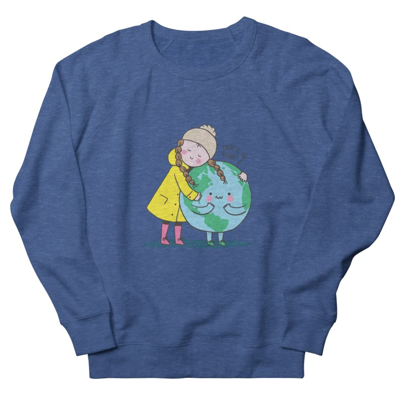 THERE IS NO PLANET B Women's French Terry Sweatshirt by RiLi's Artist Shop