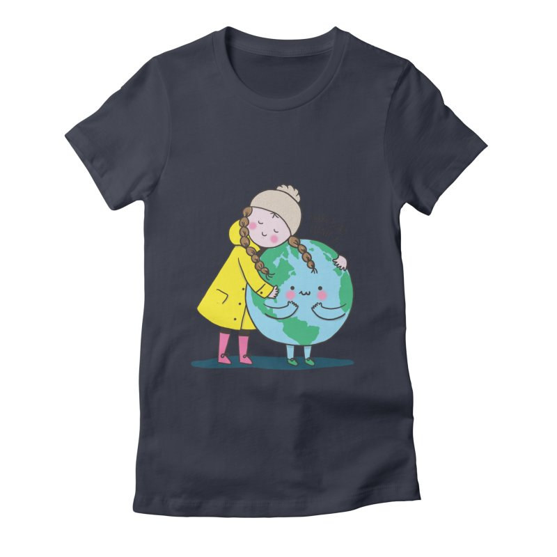 THERE IS NO PLANET B Women's Fitted T-Shirt by RiLi's Artist Shop