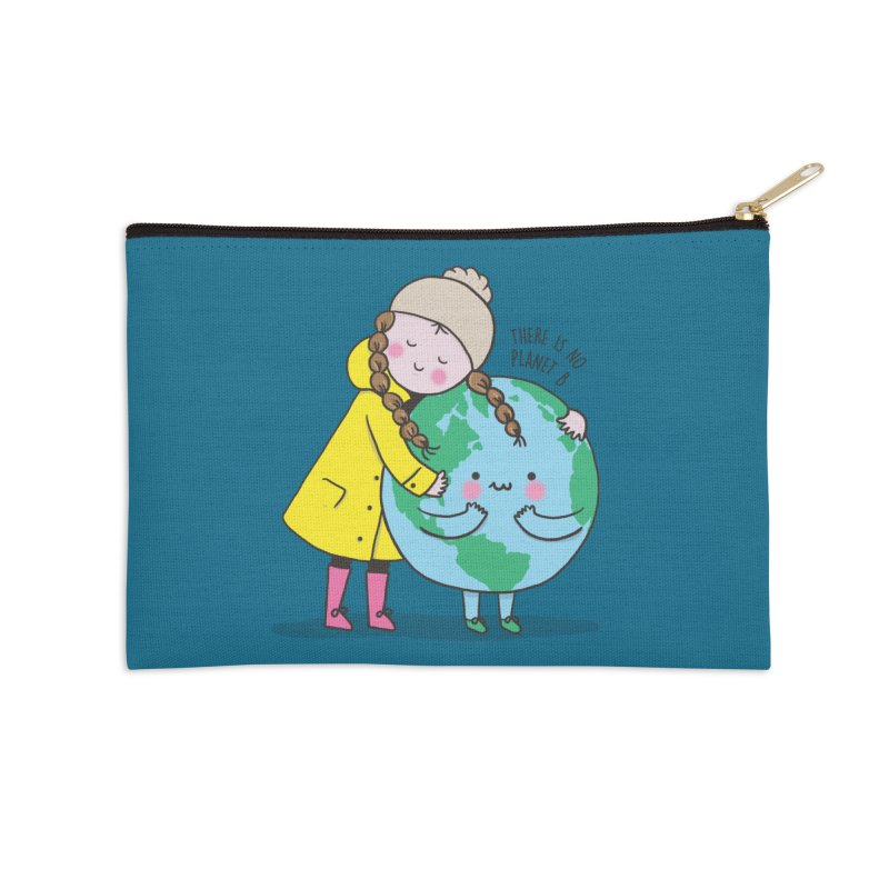 THERE IS NO PLANET B Accessories Zip Pouch by RiLi's Artist Shop