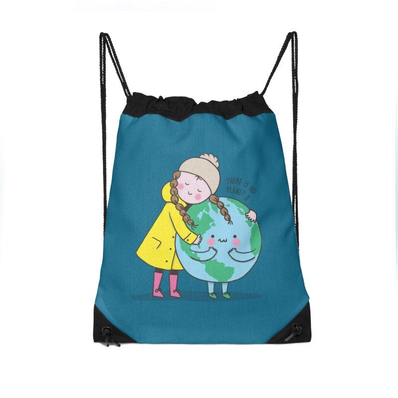 THERE IS NO PLANET B Accessories Drawstring Bag Bag by RiLi's Artist Shop