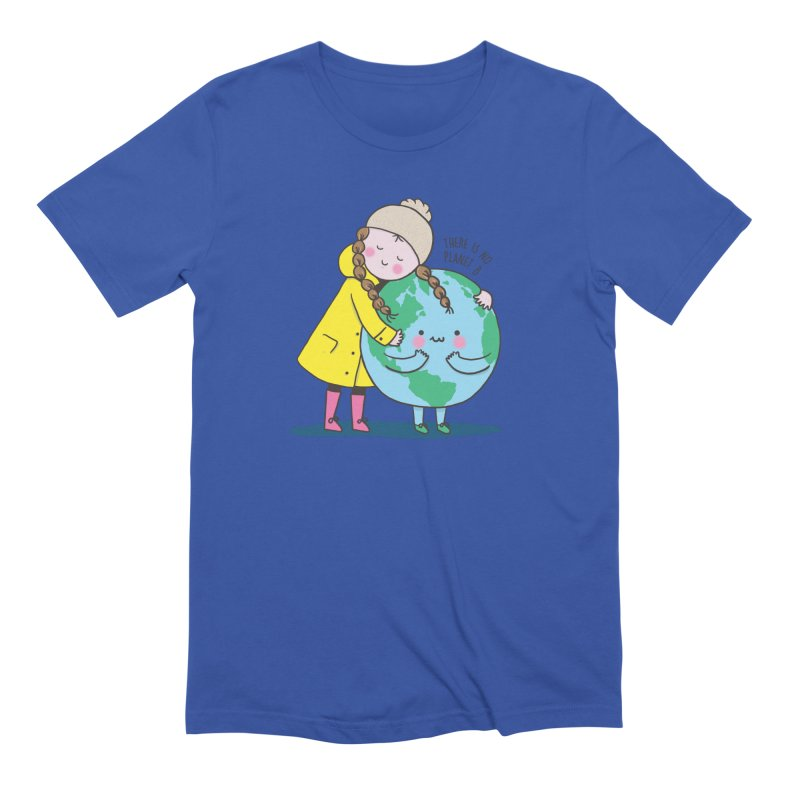 THERE IS NO PLANET B Men's Extra Soft T-Shirt by RiLi's Artist Shop