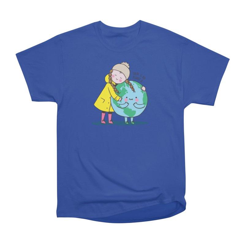 THERE IS NO PLANET B Men's Heavyweight T-Shirt by RiLi's Artist Shop