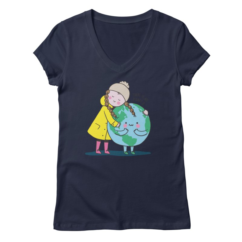 THERE IS NO PLANET B Women's Regular V-Neck by RiLi's Artist Shop