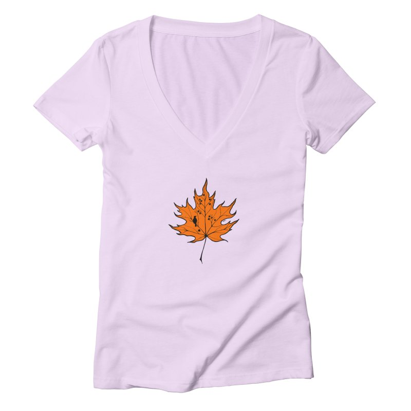 Autumn Women's Deep V-Neck V-Neck by RichRogersArt