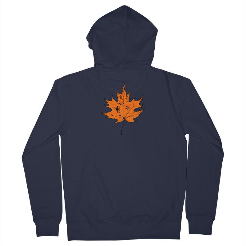 Autumn Men's French Terry Zip-Up Hoody by RichRogersArt