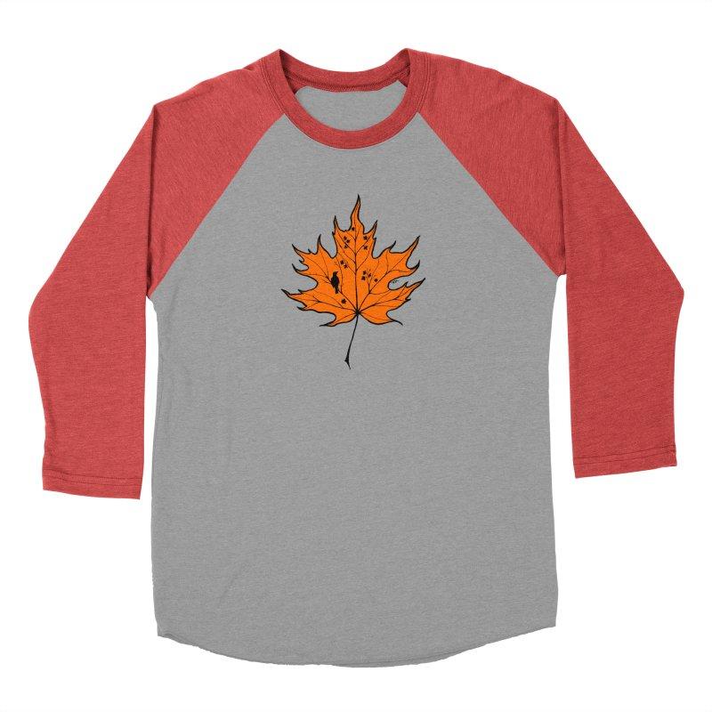 Autumn Men's Baseball Triblend Longsleeve T-Shirt by RichRogersArt