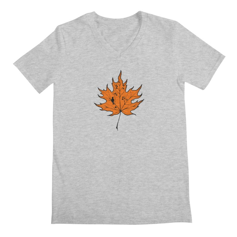 Autumn Men's Regular V-Neck by RichRogersArt