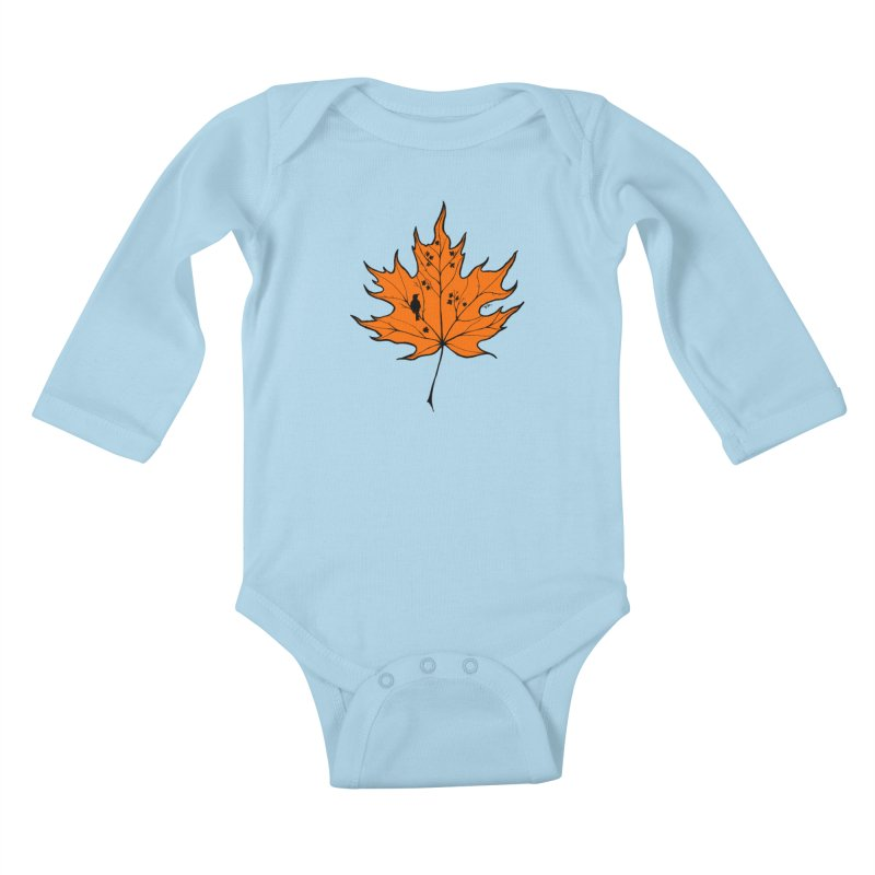 Autumn Kids Baby Longsleeve Bodysuit by RichRogersArt