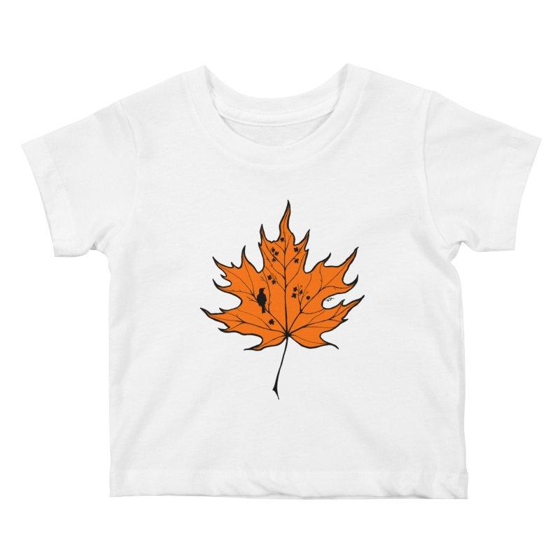 Autumn Kids Baby T-Shirt by RichRogersArt