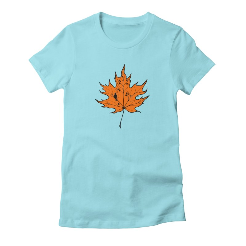 Autumn Women's Fitted T-Shirt by RichRogersArt