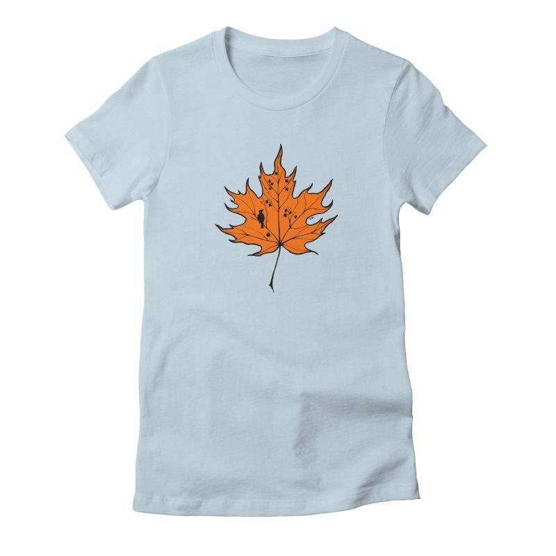 Autumn Women's Fitted T-Shirt by RichRogersArt