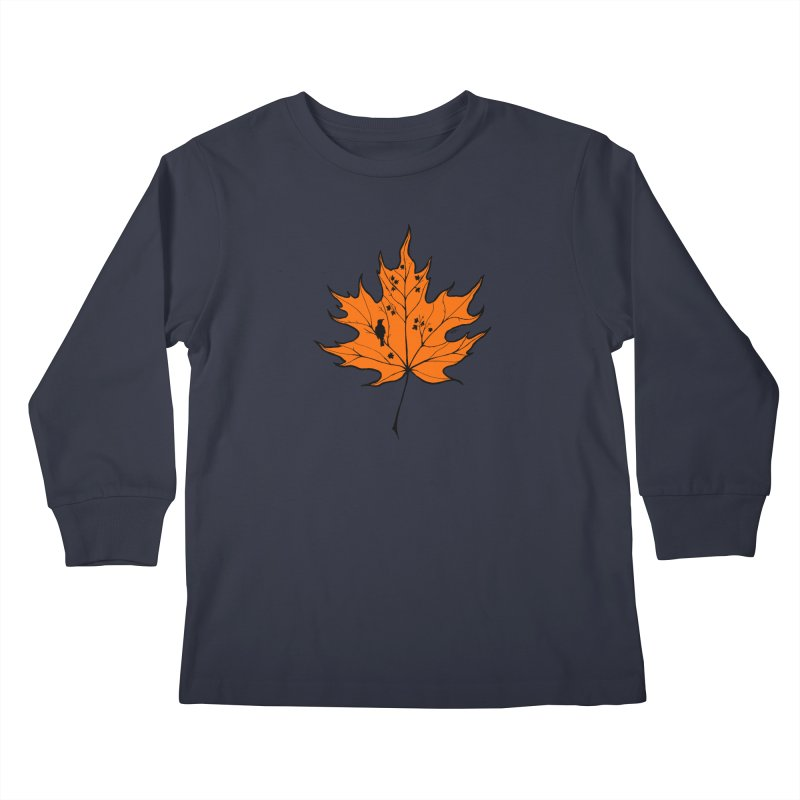 Autumn Kids Longsleeve T-Shirt by RichRogersArt