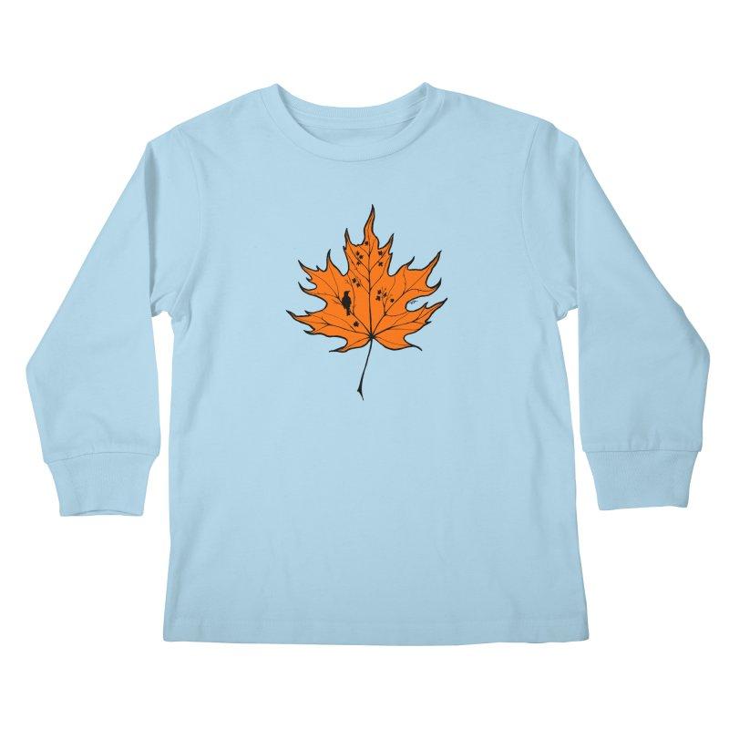 Autumn Kids Longsleeve T-Shirt by RichRogersArt