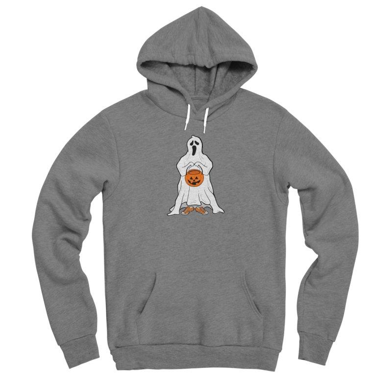 Trick or Treat Men's Sponge Fleece Pullover Hoody by RichRogersArt
