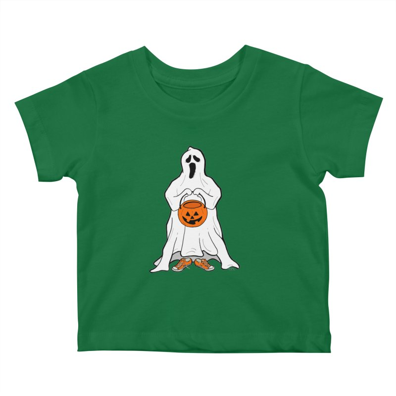 Trick or Treat Kids Baby T-Shirt by RichRogersArt