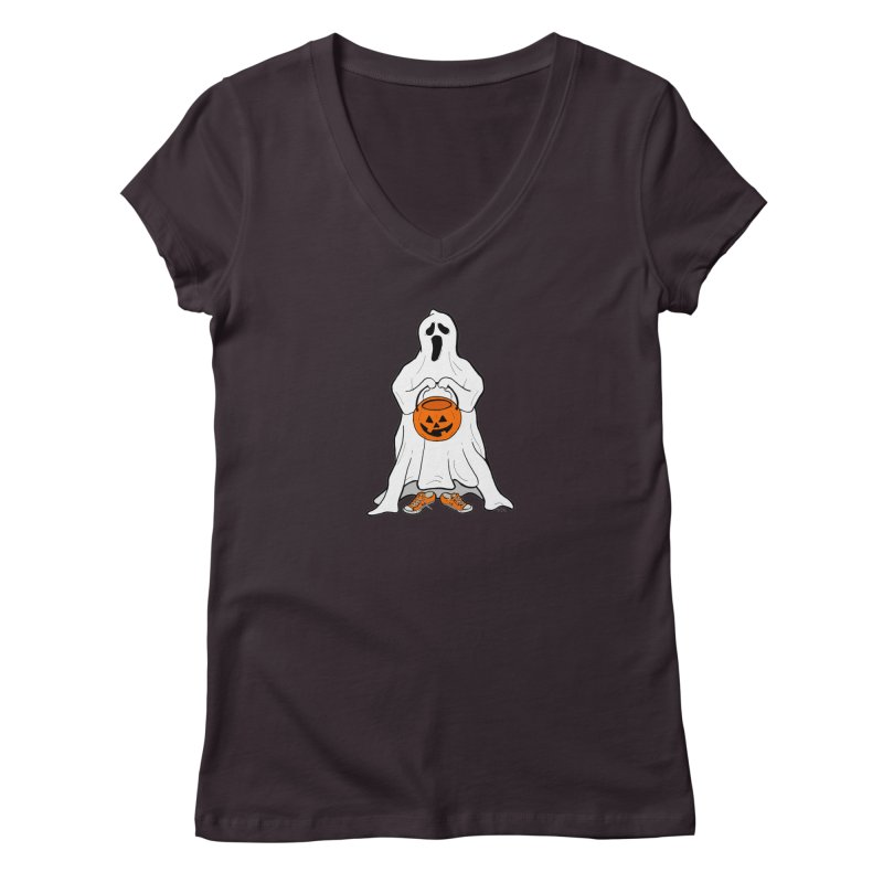 Trick or Treat Women's Regular V-Neck by RichRogersArt
