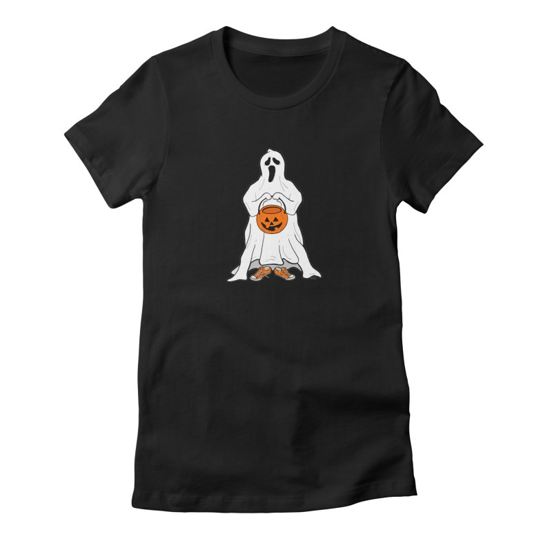 Trick or Treat Women's Fitted T-Shirt by RichRogersArt