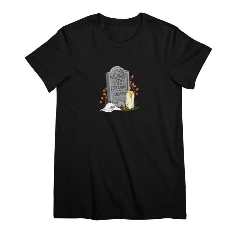 Love is Strong as Death Women's Premium T-Shirt by RichRogersArt