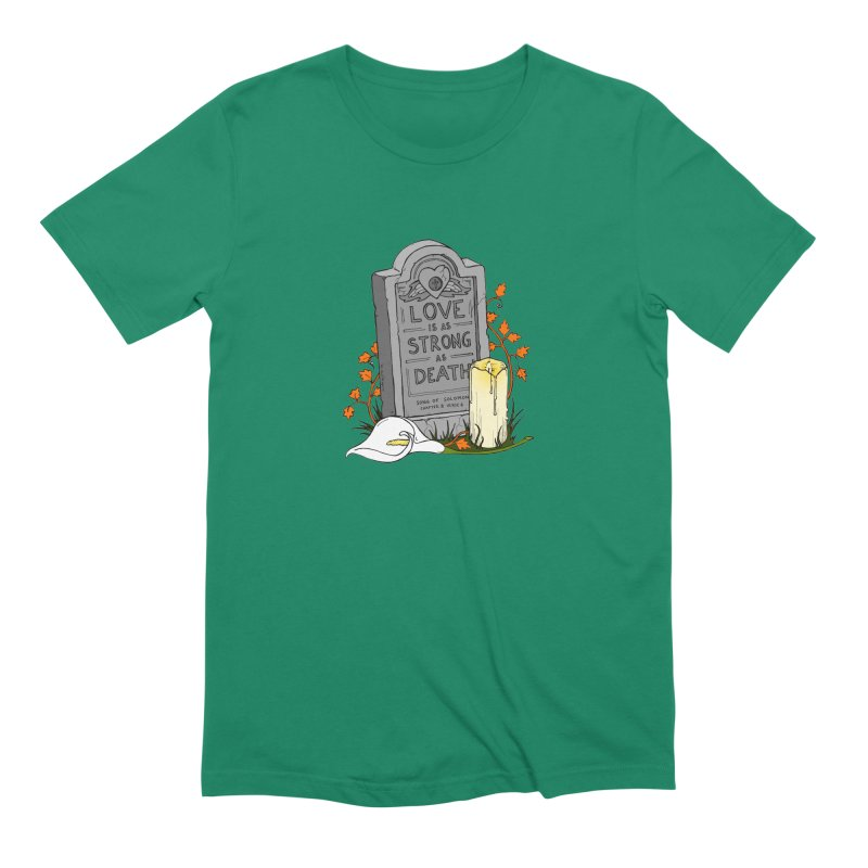 Love is Strong as Death Men's Extra Soft T-Shirt by RichRogersArt