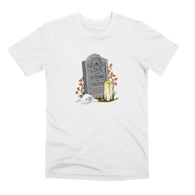 Love is Strong as Death Men's Premium T-Shirt by RichRogersArt