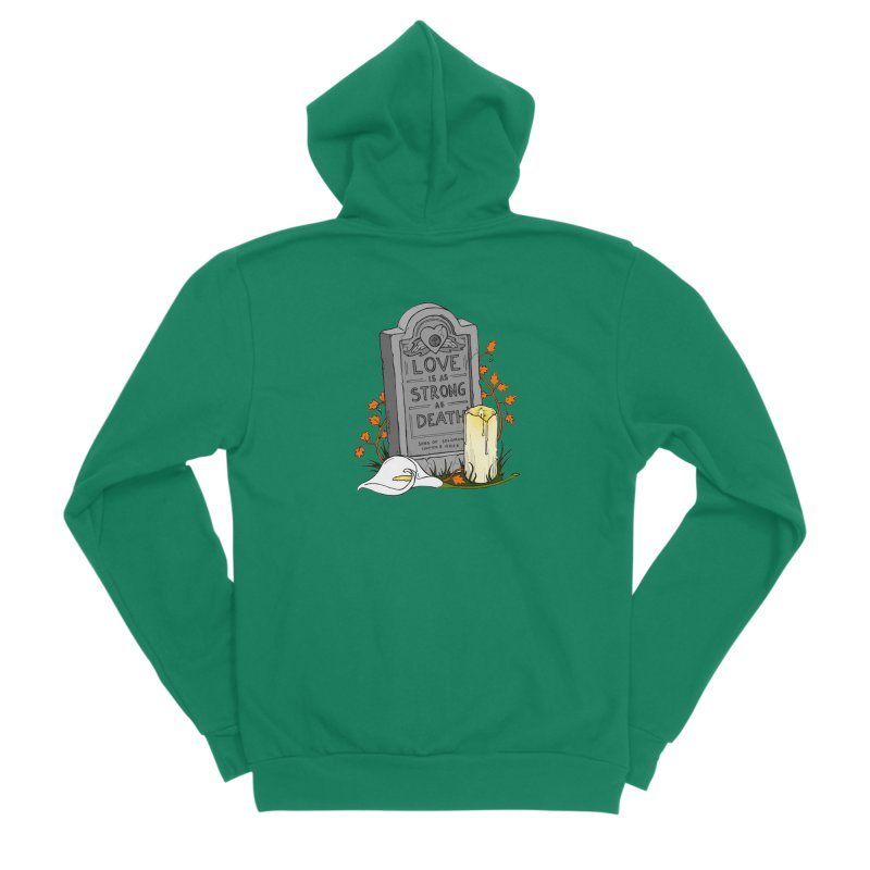 Love is Strong as Death Women's Sponge Fleece Zip-Up Hoody by RichRogersArt
