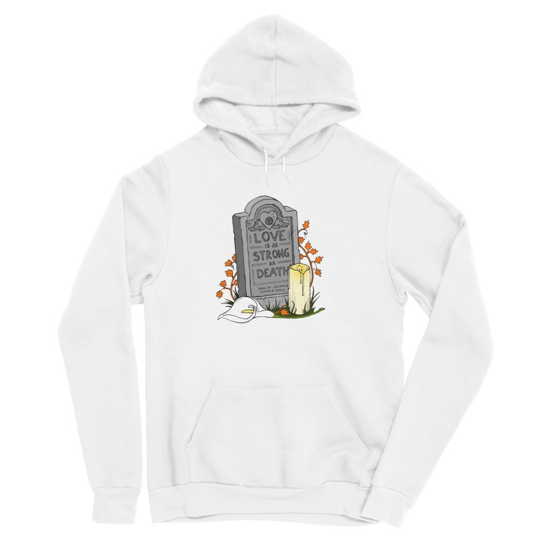 Love is Strong as Death Men's Sponge Fleece Pullover Hoody by RichRogersArt