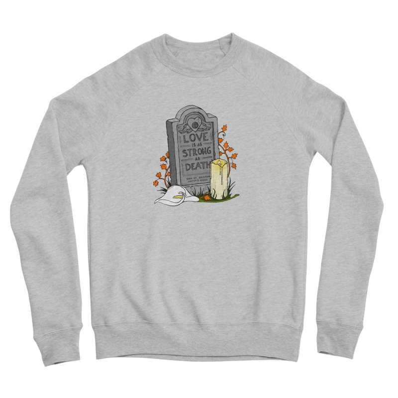 Love is Strong as Death Men's Sponge Fleece Sweatshirt by RichRogersArt