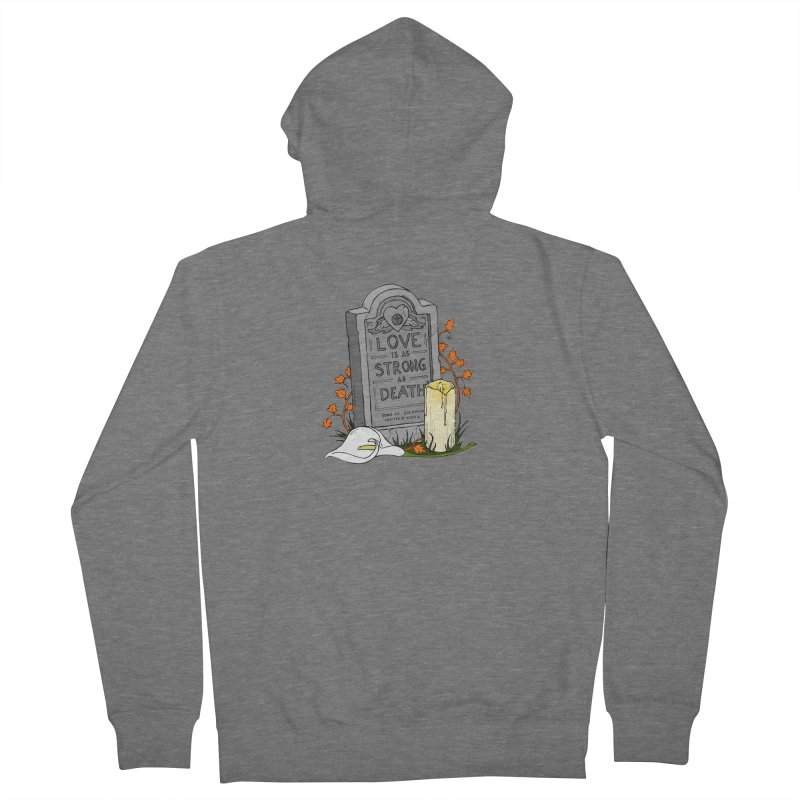 Love is Strong as Death Women's French Terry Zip-Up Hoody by RichRogersArt