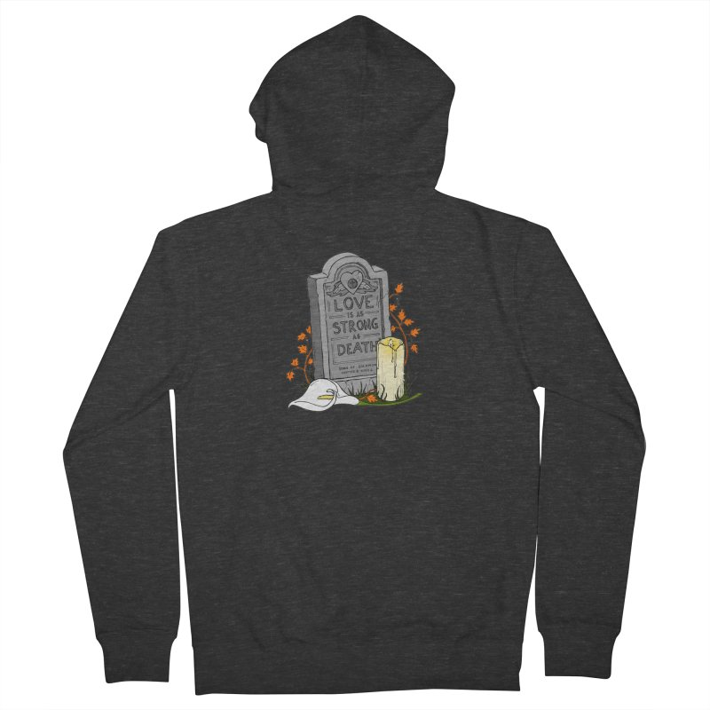 Love is Strong as Death Men's French Terry Zip-Up Hoody by RichRogersArt