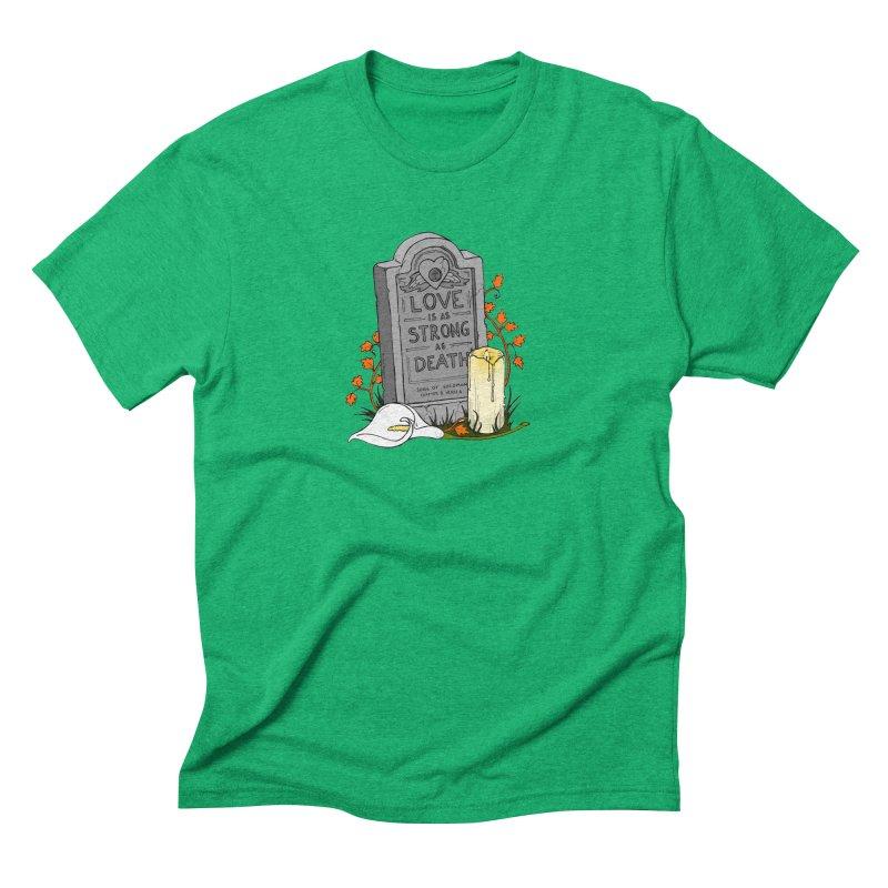 Love is Strong as Death Men's Triblend T-Shirt by RichRogersArt