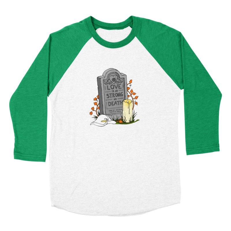 Love is Strong as Death Men's Baseball Triblend Longsleeve T-Shirt by RichRogersArt