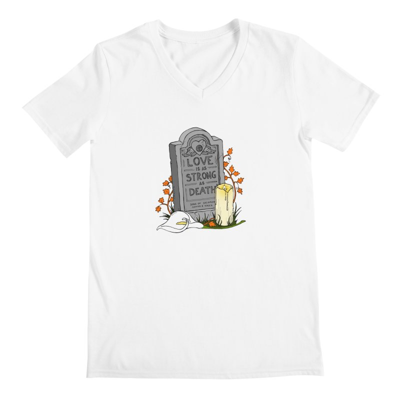 Love is Strong as Death Men's V-Neck by RichRogersArt