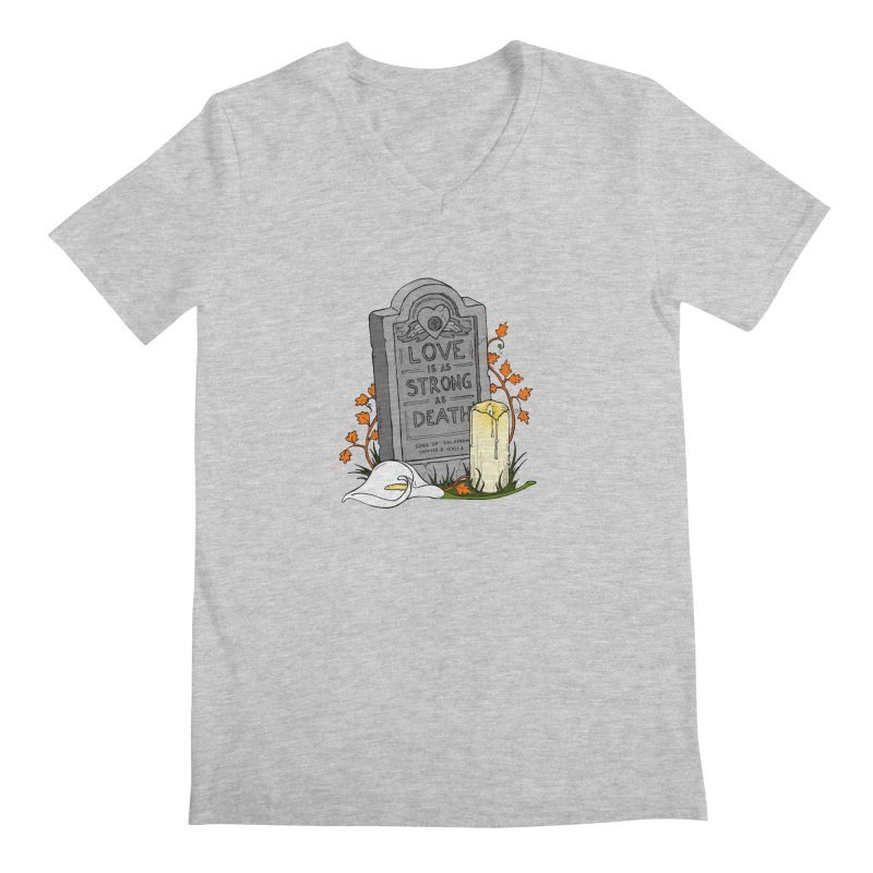 Love is Strong as Death Men's Regular V-Neck by RichRogersArt