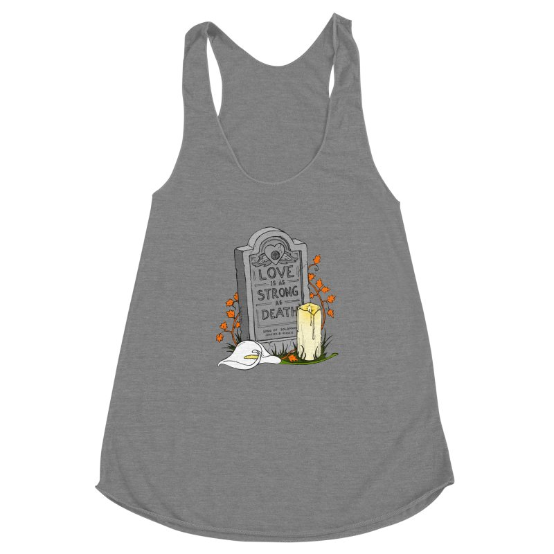 Love is Strong as Death Women's Racerback Triblend Tank by RichRogersArt