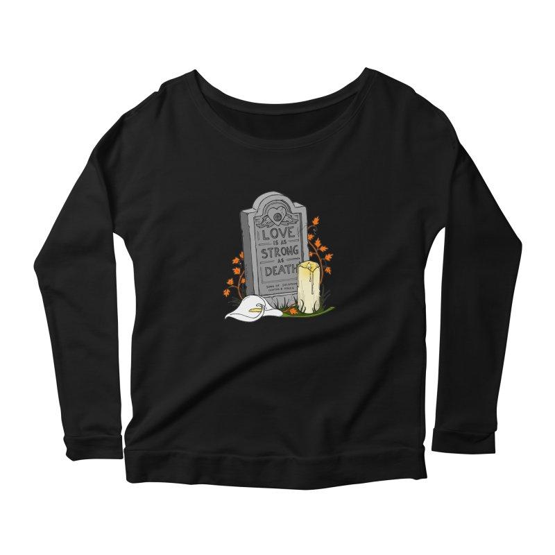 Love is Strong as Death Women's Scoop Neck Longsleeve T-Shirt by RichRogersArt