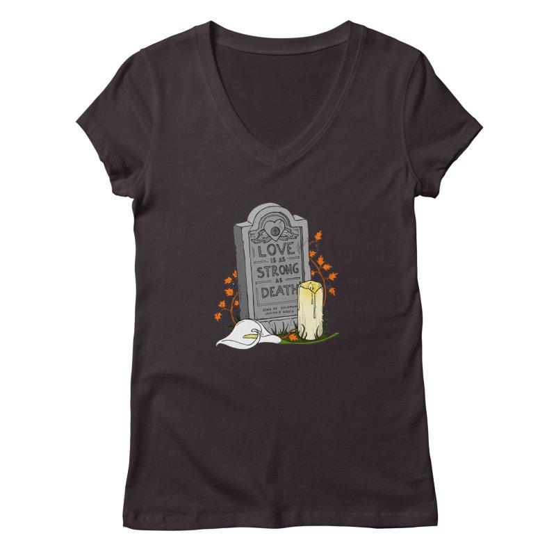 Love is Strong as Death Women's Regular V-Neck by RichRogersArt
