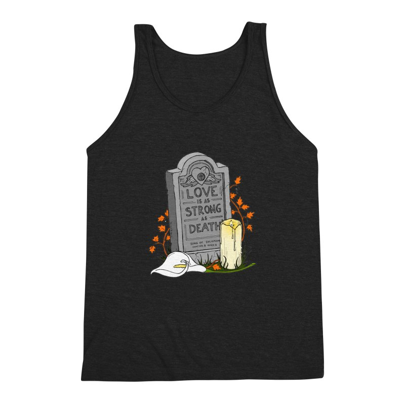 Love is Strong as Death Men's Triblend Tank by RichRogersArt