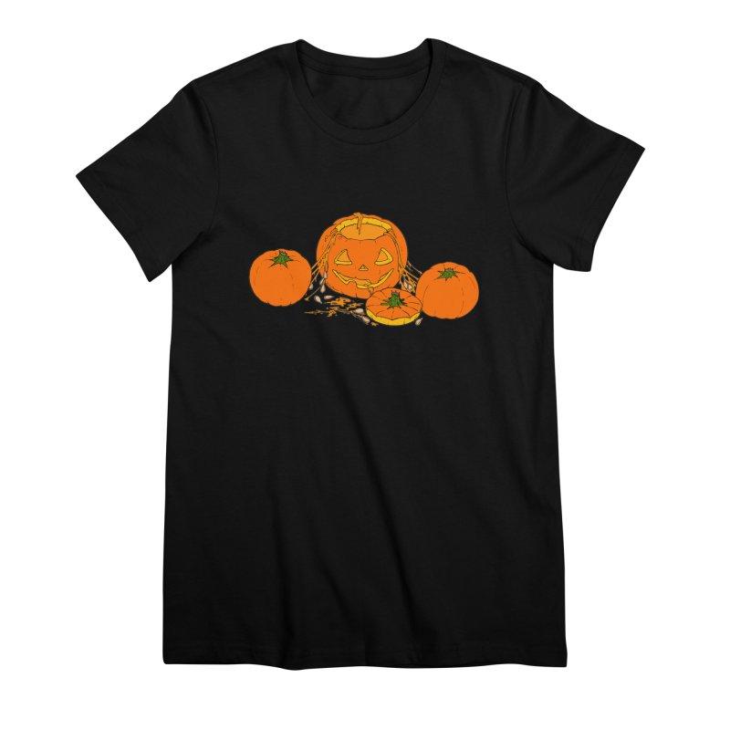 Pumpkin Guts Women's Premium T-Shirt by RichRogersArt
