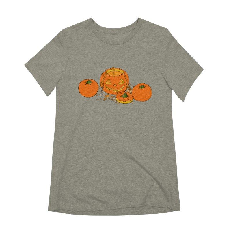 Pumpkin Guts Women's Extra Soft T-Shirt by RichRogersArt