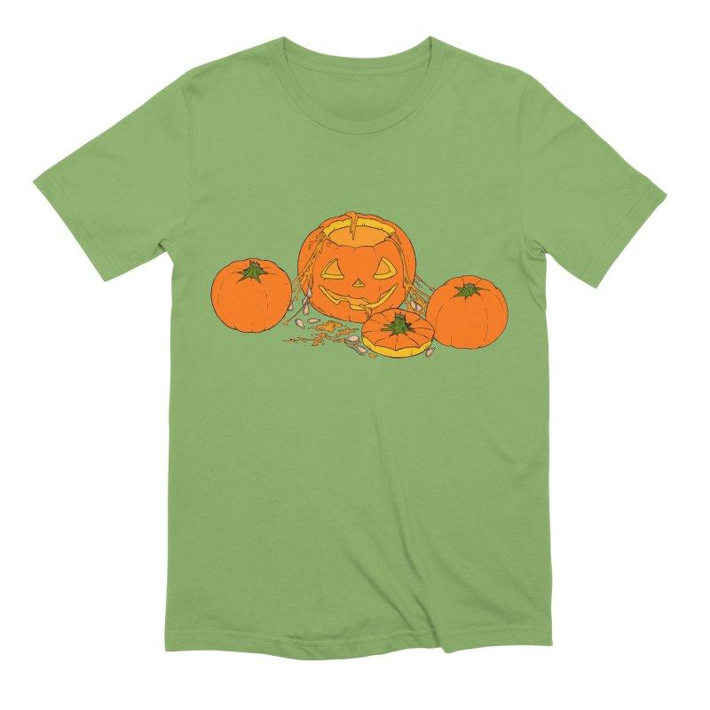 Pumpkin Guts Men's Extra Soft T-Shirt by RichRogersArt