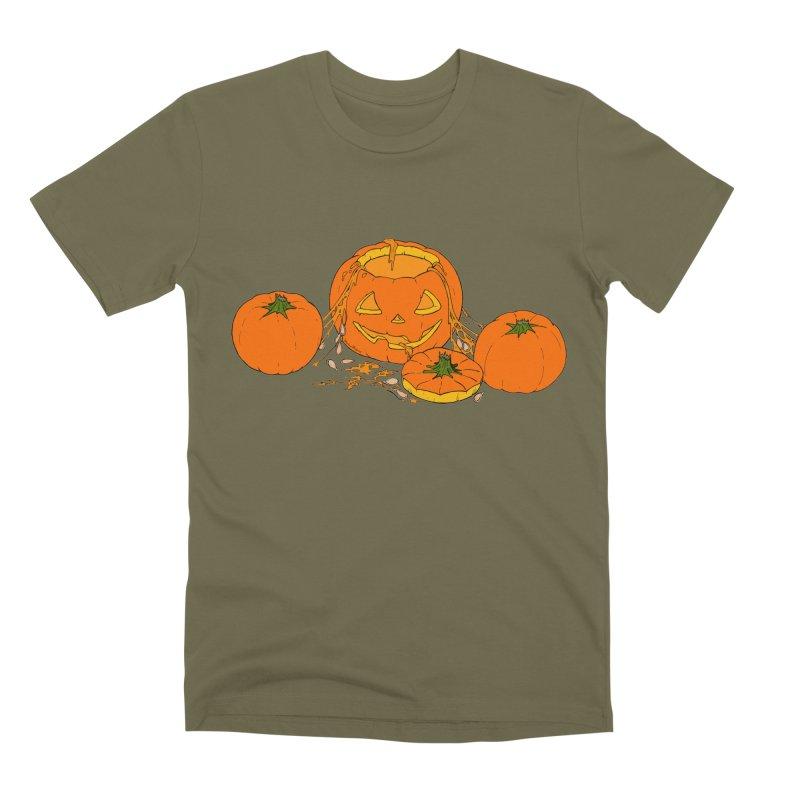 Pumpkin Guts Men's Premium T-Shirt by RichRogersArt