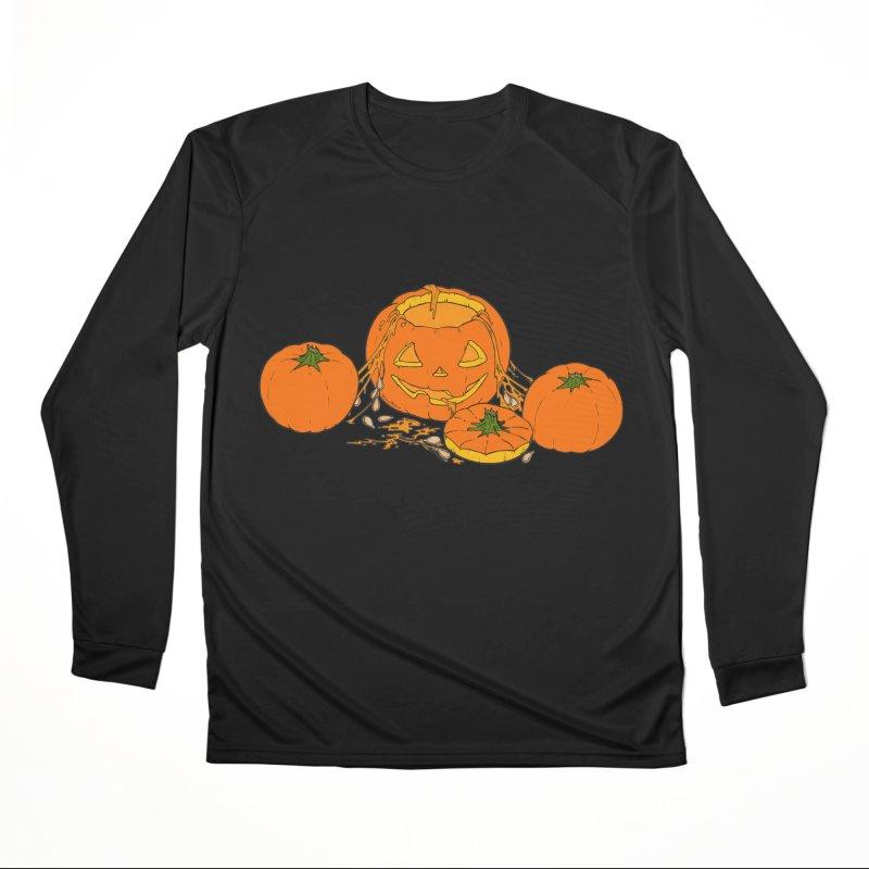 Pumpkin Guts Men's Performance Longsleeve T-Shirt by RichRogersArt